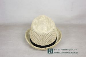 Trilby Straw Paper Hat (XH-PA2118) pictures & photos