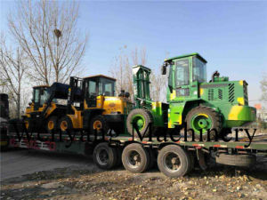 Supply Lifting Equipment Double Front Steel Tires Rought Terrain Forklift pictures & photos