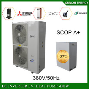 Slovakia -25c Snow Winter Floor House Heating System 12kw/19kw/35kw Auto-Defrsot Air Source Heat Pump Evi Split DC Inverter pictures & photos