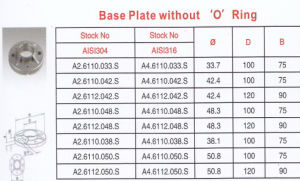 Base Flat Without O Ring pictures & photos