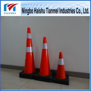 New PVC Road Safety Cone with Black Base, Traffic Cone pictures & photos