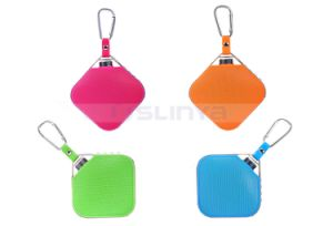 Portable Square Bluetooth TF Aux Waterproof Speakers Metal Alloy Aluminum Sport Outdoor Speaker with Hook Lanyard Keychain pictures & photos