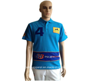 Custom Men′s Embroidered Logo High Quality Polo Shirt pictures & photos