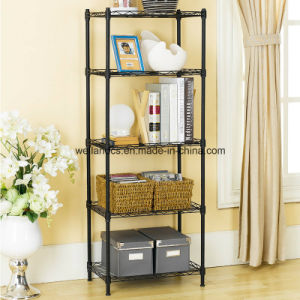 Assembly Adjustable Epoxy Metal Furniturewire Shelving for Home pictures & photos