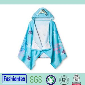 Hot Sale Comfortable Cotton Baby Animal Face Teery Hooded Towel pictures & photos