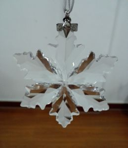 High Qualiy Annual Edition Crystal Snowflakes Ornament, Crystal Snowflake Pendant, Crystal Hanging Snowflake pictures & photos