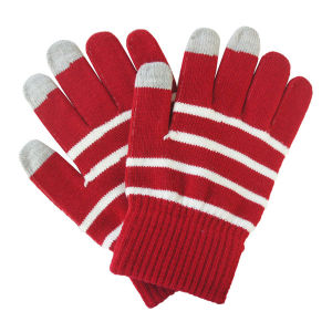 Lady Fashion Stripe Knitted Warm Touch Screen Magic Gloves (YKY5464) pictures & photos