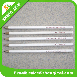 Sharpen Wooden Popular Logo Pencil with Rubber (SLF-WP021) pictures & photos