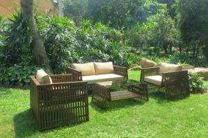Wholesale Supplies Garden Furniture Rattan Wicker Sofa Set (DS-15592) pictures & photos