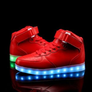 Lace up Lightweight USB Charging LED Light up Shoes pictures & photos
