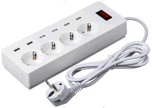 High Quality USB Power Socket with Euro Plug Outlet pictures & photos