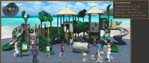 Kaiqi Large Cute Sailing Series Children′s Playground with Slides (KQ50045C) pictures & photos
