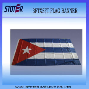 Cheap Custom Polyester Cuba Nation Flag pictures & photos
