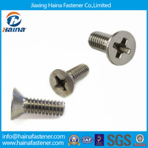 Stainless Steel DIN965 Slotted Cross Recessed Countersunk Head Machine Screws pictures & photos