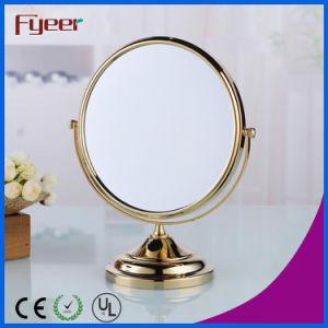 Fyeer Modern Round Golden Makeup Mirror (M5048G) pictures & photos