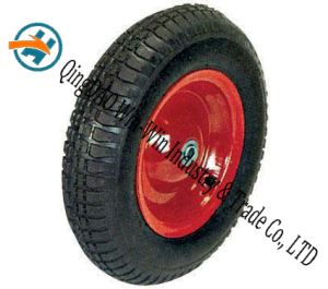 "Pneumatic Rubber Wheel for Platform Trucks Alloy Wheel (16""X4.00-8) pictures & photos"