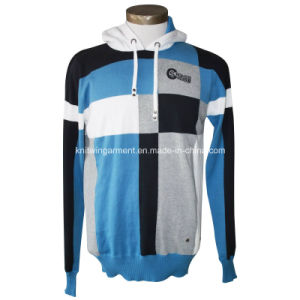 Men Casual Hooded Long Sleeve Sweater Pullover (M15-068)