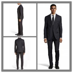 OEM Factory Price Customized Men′s Cashmere Wool Trendy Black Suit Blazer Jacket pictures & photos