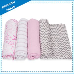 100% Bamboo Muslin Swaddle Blanket pictures & photos