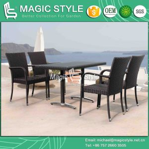 Promotional Chair Hot Sale Chair Dining Set Wicker Dining Set Garden Dining Set (Magic Style) pictures & photos