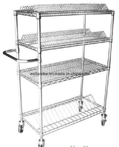 NSF Approval ESD Reel Storage Cart Trolley for Factory pictures & photos