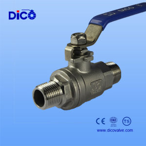 Industrial Grade Manual Male 2PC Ball Valve pictures & photos