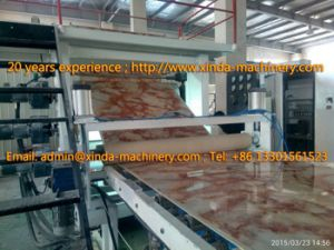 PVC Artificial Marble Sheet Production Line pictures & photos