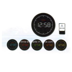 Remote Control Round Electric LED Digital Time Clock pictures & photos