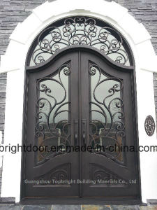 Safety Wrought Iron Main Door Designs Price pictures & photos