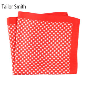 Fashionable Silk Polyester Dots Flower Printed Pocket Square Hanky Handkerchief (SH-001) pictures & photos