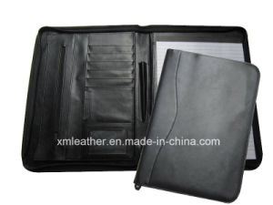 Promotional Fashion Leather File Folder with Pen Loop for Office pictures & photos