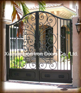 Forged Wrought Iron Gates House Used Security Driveway Sliding Gates pictures & photos