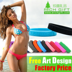 Custom Embossed Debossed Printing Silicone Wristband for Women pictures & photos