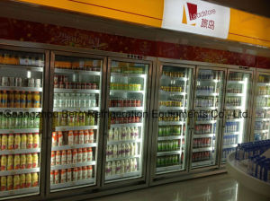 Soft Drink Commercial Upright Glass Door Refrigerator with Ce pictures & photos