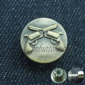 Gun Elegant Vintage Antique Style Metal Buttons pictures & photos