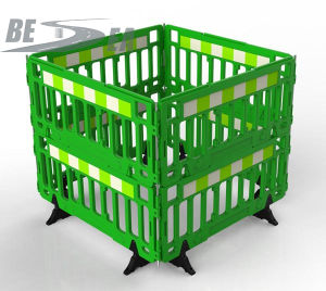 Durable HDPE Plastic Blowing Roadway Safety Stackable Barrier Fence pictures & photos