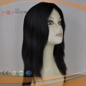 Human Hair Skin Top Black Color Hand Tied Topper Toupee pictures & photos