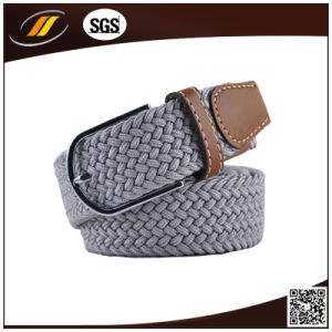 New Cheap Knitted Leather Belt Cloth Braided Belt (HJ1101) pictures & photos