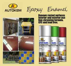 Aerosol Spray Paint, Enamel Spray Paint, Epoxy Enamel, High Gloss Spray Paint, Ceramic Like Finish, Contains Epoxy Ingredient pictures & photos