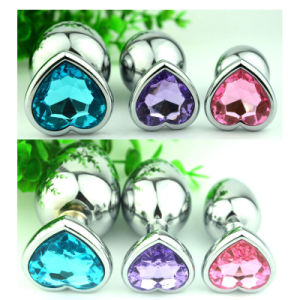 Newest Heart Shape Multi-Color Crystal Jewelry Anal Plug Small Size pictures & photos