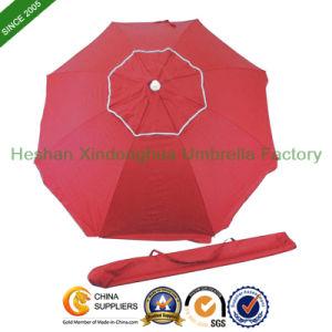 180cm Diameter Double Layer Outdoor Sun Umbrella for Beach (BU-0036D) pictures & photos