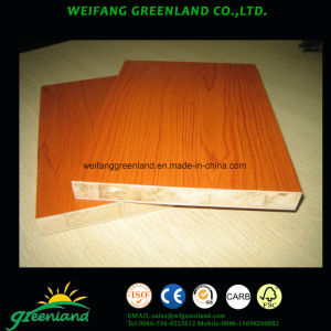 Embossed Melamined Block Board with Falcata Core pictures & photos