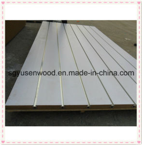 Melamine MDF Slatwall with Aluminum Inserts/Slotted MDF pictures & photos