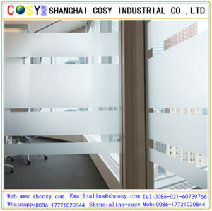 1.22*5om Customized Hot Printed Flexible Packaging PVC Window Film with Good Sticker pictures & photos