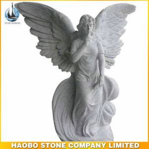 Decorative Life Size White Marble Garden Angel Statue pictures & photos