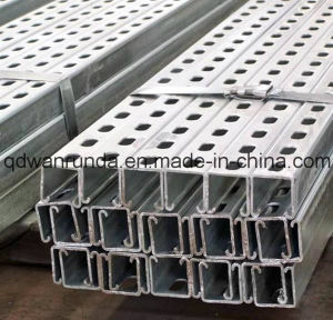 Mild Steel Slotted Galvanized C Steel Channel pictures & photos