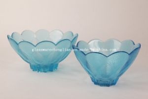 Various Solid Colors &Designs of Machine-Made Glass Bowl (P-022) pictures & photos