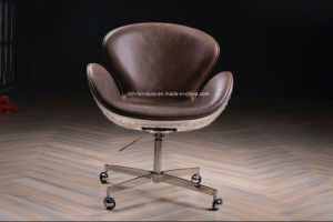 Swan Chair in Vintage Leather pictures & photos