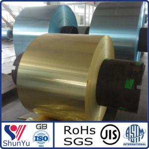 High-Quality Hydrophilic Aluminium/Aluminum Foil in Golden/Blue Color