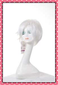 White Color High Temperature Synthetic Hair Wig Short Style pictures & photos